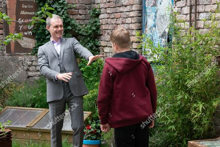 Ep 9854 Wednesday 21st August 2019 - 2nd Ep Nick Tilsley, as played by Ben Price, finds Max, as played by Harry McDermott, in Victoria Garden smashing up plant pots. When Nick tries to stop him, Max takes a swing at Nick, blaming him for the fact David's in prison.