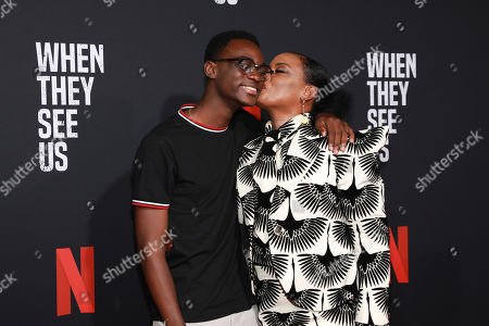 "Ethan Herisse, Aunjanue Ellis. Ethan Herisse and Aunjanue Ellis attend the ""When They See Us"" FYC screening at Paramount studios on in Los Angeles"