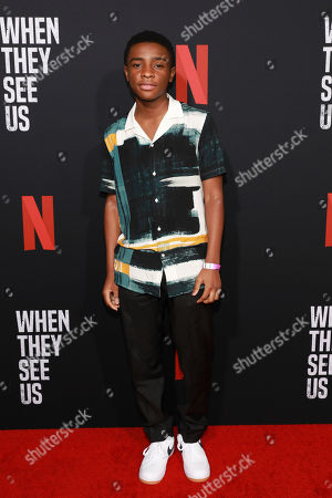 """Caleel Harris attends the """"When They See Us"""" FYC screening at Paramount studios on in Los Angeles"""
