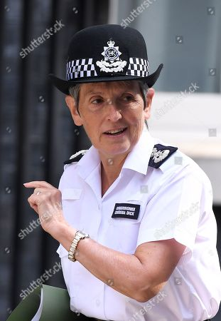 Cressida Dick, Commissioner of the Metropolitan Police Service, arrives at No.10 Downing Street for an urgent review of sentencing policy.