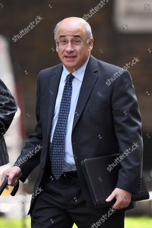 Stock Image of Lord Leveson arrives at No.10 Downing Street for an urgent review of sentencing policy.