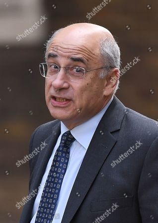 Stock Photo of Lord Leveson arrives at No.10 Downing Street for an urgent review of sentencing policy.