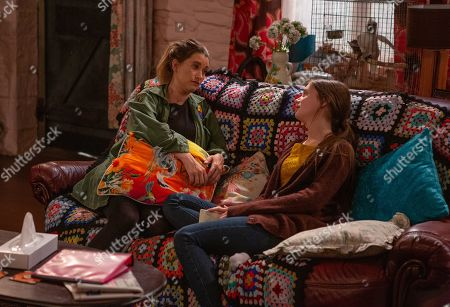 Ep 8564 Tuesday 13th August 2019 - 1st Ep Debbie Dingle, as played by Charley Webb, leaves for Scotland and says goodbye to Sarah Sugden, as played by Katie Hill, and the Dingles.
