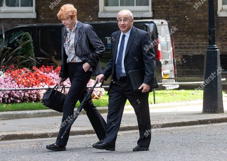 Lord Lord Justice Leveson, President of the Queen's bench Division, arrives for the meeting