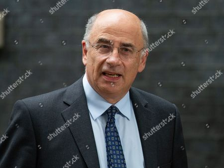 Lord Justice Leveson QC, President of the Queen's Bench Division and Head of Criminal Justice. Prime Minister, Boris Johnson, hosts a Law and Order meeting in 10 Downing Street today with senior Justice, Police and probation officials