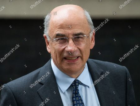 Stock Image of Lord Justice Leveson QC, President of the Queen's Bench Division and Head of Criminal Justice. Prime Minister, Boris Johnson, hosts a Law and Order meeting in 10 Downing Street today with senior Justice, Police and probation officials