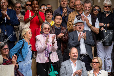 Stock Photo of Dominique Lavanant (C) leaves the Saint-Sulpice church after the funeral of the French director Jean-Pierre Mocky, in Paris, France, 12 August 2019. Mocky died at the age of 86 in Paris on 08 August.