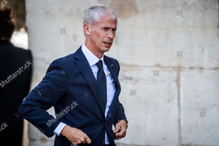 French Culture Minister Franck Riester arrives at the Saint-Sulpice church for the funeral of the French director Jean-Pierre Mocky, in Paris, France, 12 August 2019. Mocky died at the age of 86 in Paris on 08 August.