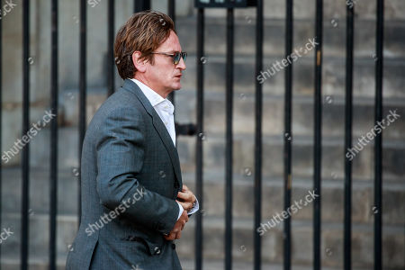Benoit Magimel leaves the Saint-Sulpice church after the funeral of the French director Jean-Pierre Mocky, in Paris, France, 12 August 2019. Mocky died at the age of 86 in Paris on 08 August.