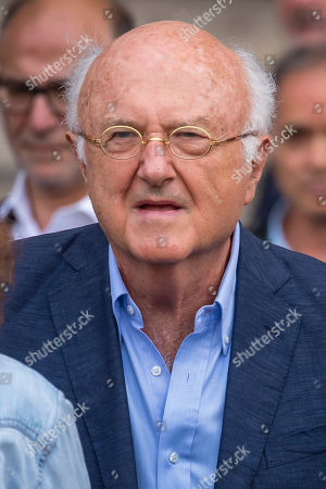 Romanian-born French composer Vladimir Cosma leaves the Saint-Sulpice church after the funeral of the French director Jean-Pierre Mocky, in Paris, France, 12 August 2019. Mocky died at the age of 86 in Paris on 08 August.