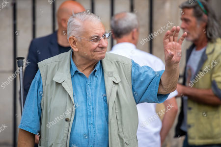 French actor Henri Guybet leaves the Saint-Sulpice church after the funeral of the French director Jean-Pierre Mocky, in Paris, France, 12 August 2019. Mocky died at the age of 86 in Paris on 08 August.
