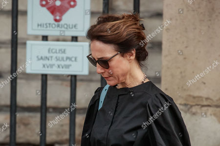 Elsa Zylberstein leaves the Saint-Sulpice church after the funeral of the French director Jean-Pierre Mocky, in Paris, France, 12 August 2019. Mocky died at the age of 86 in Paris on 08 August.