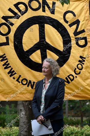 Baroness Jenny Jones seen during the commemoration.