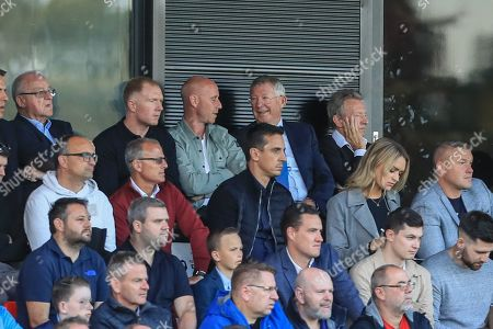 13th August 2019, Moor Lane, Salford, England; Carabao Cup, Round 1, Salford City vs Leeds United ; Sir Alex Ferguson and Nicky Butt during the game Credit: Mark Cosgrove/News Images English Football League images are subject to DataCo Licence