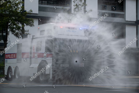 Water cannons tested for use in protests, Hong Kong