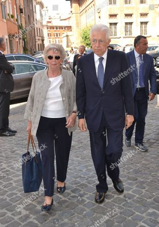 Mario Monti with his wife