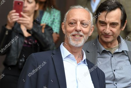 Tom Novembre attends the funeral of French film director Jean-Pierre Mocky at Saint Sulpice church