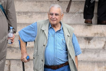 Henri Guybet attends the funeral of French film director Jean-Pierre Mocky at Saint Sulpice church