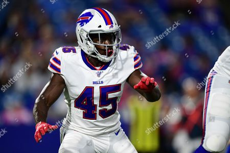 Buffalo Bills' Christian Wade during the second half of an NFL preseason football game against the Indianapolis Colts, in Orchard Park, N.Y