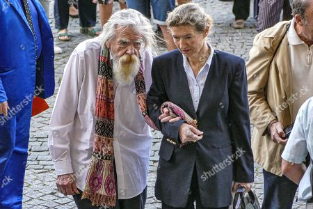 Stock Photo of Michael Lonsdale attends the funeral of French film director Jean-Pierre Mocky at Saint Sulpice church
