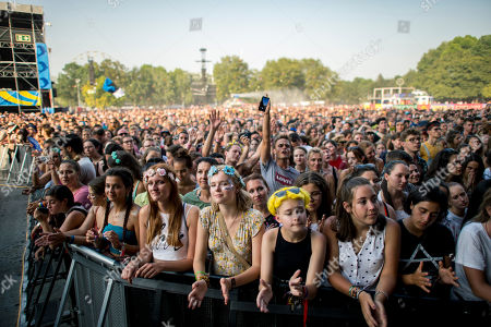 Fans enjoy the concert of English singer-songwriter Tom Odell at the Sziget (Island) Festival on Shipyard Island, Northern Budapest, Hungary, 12 August 2019. The festival is one of the biggest cultural events of Europe offering art exhibitions, theatrical and circus performances and above all music concerts in seven days.