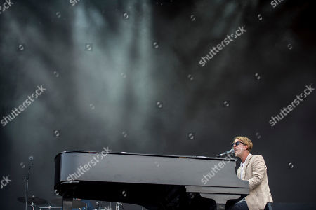 English singer-songwriter Tom Odell performs during his concert at the Sziget (Island) Festival on Shipyard Island, Northern Budapest, Hungary, 12 August 2019. The festival is one of the biggest cultural events of Europe offering art exhibitions, theatrical and circus performances and above all music concerts in seven days.