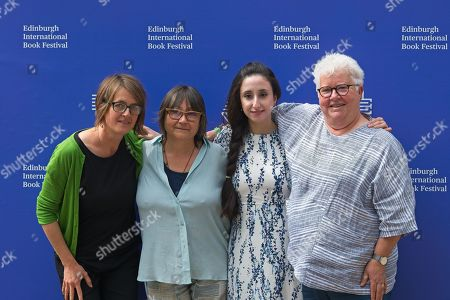Stock Picture of Left to right, Karine Polwart, a guest, Nayrouz Qarmout and Val McDermid attend a photocall.