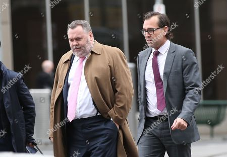 Stock Picture of Legal representatives for Israel Folau Stuart Wood (L) and George Faros (R) arrive at the Federal Court in Melbourne, Australia, 13 August 2019. The Federal court is holding a directions hearing for Wallabies player Israel Folau, who is taking Rugby Australia to court for unfair dismissal.