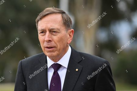 United States General (retired) David H. Petraeus visits the Australian War Memorial in Canberra, Australia, 13 August 2019.