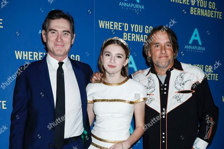 Richard Linklater, Emma Nelson, and Billy Crudup