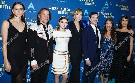 Troian Bellisario, Richard Linklater, Emma Nelson, Cate Blanchett, Billy Crudup, Ginger Sledge and Zoe Chao