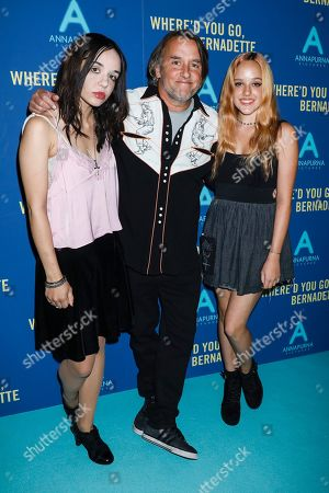 Stock Photo of Lorelei Linklater, Richard Linklater and Zoe Graham