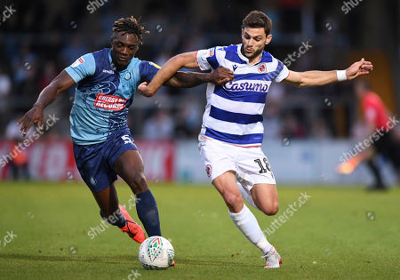 Anthony Stewart of Wycombe Wanderers and Lucas Boye of Reading
