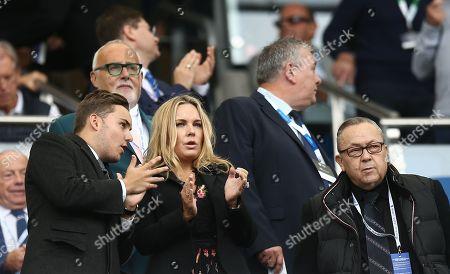 West Ham United owner David Sullivan , his son Jack and partner Eve Vorley