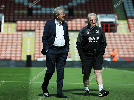 Crystal Palace manager Roy Hodgson and assistant Ray Lewington ahead of the game