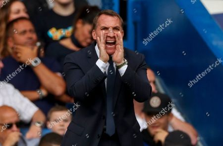 Leicester City Manager Brendan Rogers reacts on the sideline in the second half