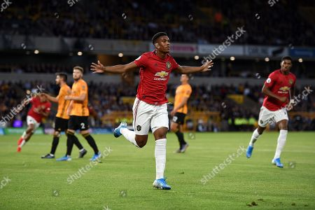 Anthony Martial of Manchester United celebrates his goal.