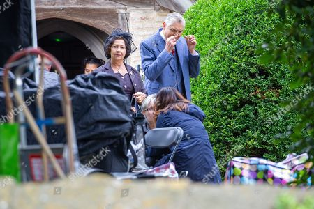 Tessa Peake-Jones on the first day of filming for Series 5 of the ITV drama Grantchester
