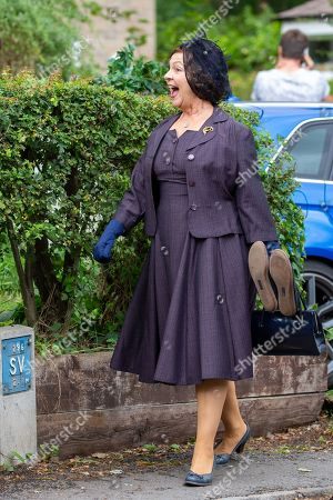 Tessa Peake-Jones on the first day of filming for Series 5 of the ITV drama Grantchester, being filmed in Grantchester