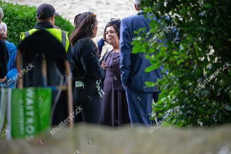 Editorial photo of 'Granchester' TV show on set filming, Grantchester, Cambridgeshire, UK - 12 Aug 2019