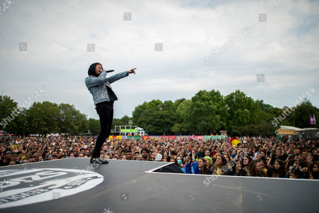 Frank Carter performs during a concert of the English punk rock band Frank Carter and The Rattlesnakes at the Sziget (Island) Festival on Shipyard Island, Northern Budapest, Hungary, 13 August 2019. The festival is one of the biggest cultural events of Europe offering art exhibitions, theatrical and circus performances and above all music concerts in seven days.