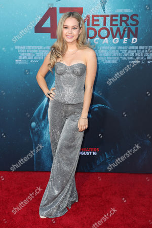 Editorial image of '47 Meters Down: Uncaged' film premiere, Arrivals, Regency Village Theatre, Los Angeles, USA - 13 Aug 2019