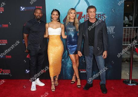 Jamie Foxx, Corinne Bishop, Sistine Rose Stallone and Sylvester Stallone