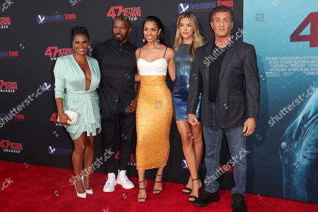 Nia Long, Jamie Foxx, Corinne Bishop, Sistine Rose Stallone and Sylvester Stallone