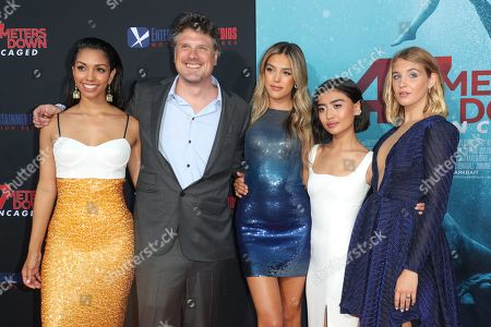 Stock Image of Corinne Bishop, Johannes Roberts, Sistine Rose Stallone, Brianne Tju and Sophie Nelisse