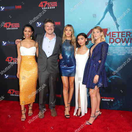 Stock Picture of Corinne Bishop, Johannes Roberts, Sistine Rose Stallone, Brianne Tju and Sophie Nelisse