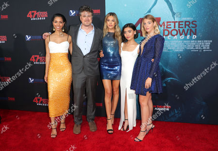 Stock Photo of Corinne Bishop, Johannes Roberts, Sistine Rose Stallone, Brianne Tju and Sophie Nelisse