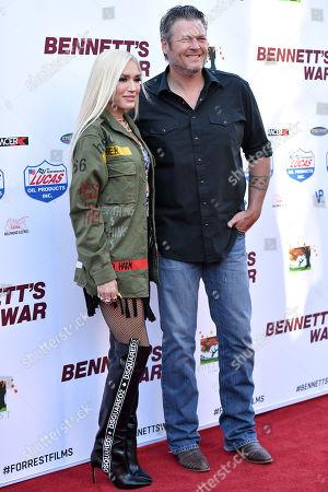 Stock Photo of Gwen Stefani and Blake Shelton