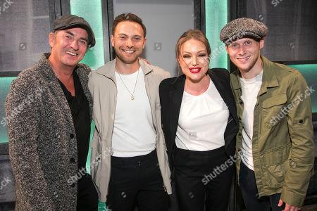 Stock Picture of Shane Richie, Matt Di Angelo, Rita Simons (Miss Hedge) and James Borthwick backstage