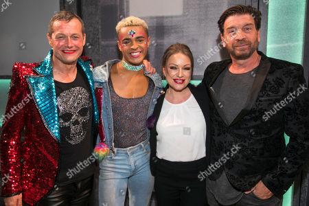 Bill Ward (Hugo/Loco Chanelle), Layton Williams (Jamie), Rita Simons (Miss Hedge), Nick Knowles